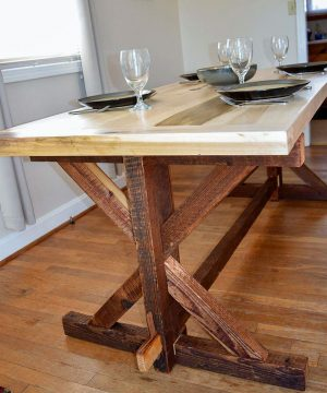 Rustic Moravian Trestle Table